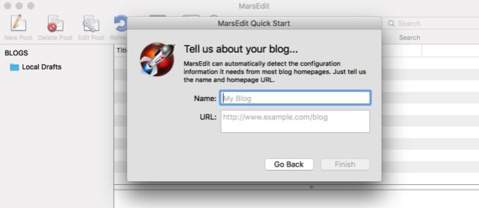 MarsEditにブログ情報を入力