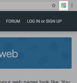 Chromeの右上にStylishのアイコンが追加される